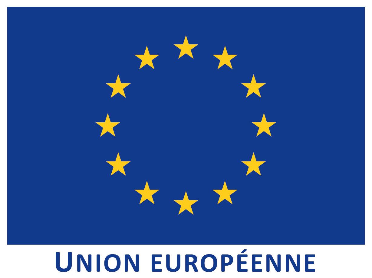 Logo Europe, projet connaissances sur nos prairies
