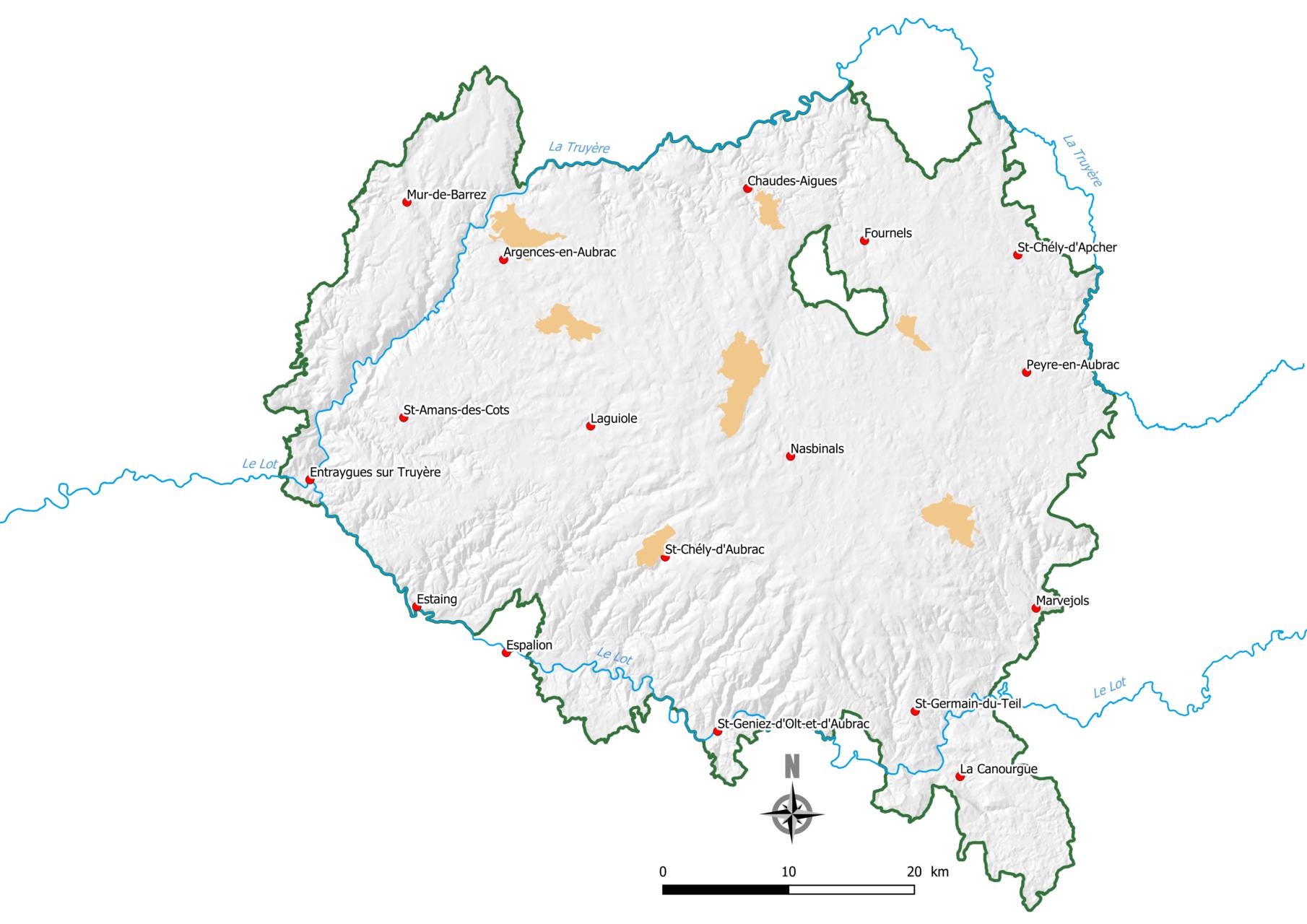 Carte projet campagnol Aubrac