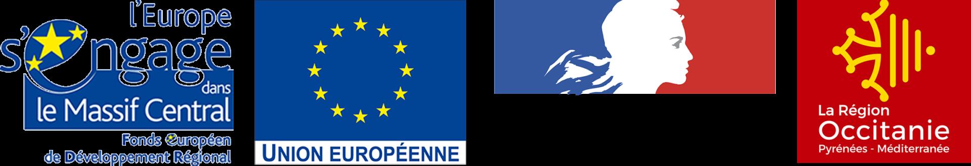 Logos des financeurs du projet lutte contre la pullulation des campagnols terrestres en aubrac