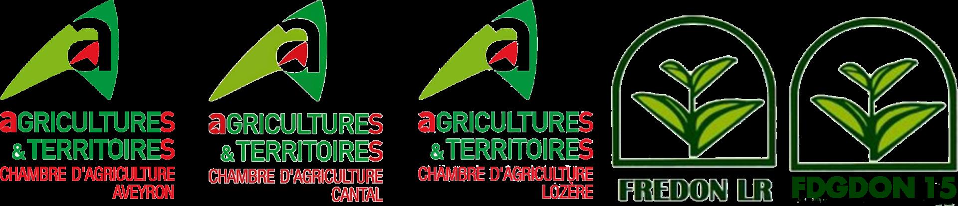 Logos partenaires du Projet lutte contre la pullulation des campagnols terrestres en aubrac