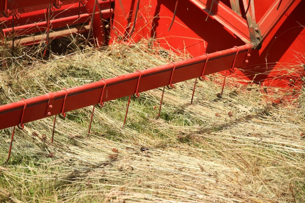 Moissonneuse récolte de semences de prairies naturelles